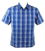 Mens FCUK French Connection Shirt S/S Blue White Check
